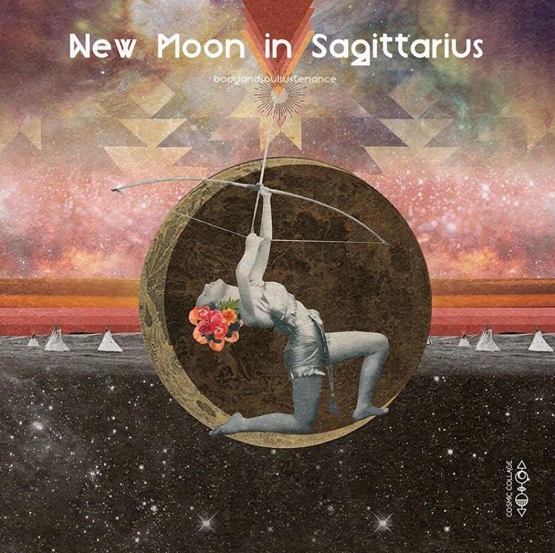 New Moon In Sagittarius November 26 2019 Body Soul Sustenance